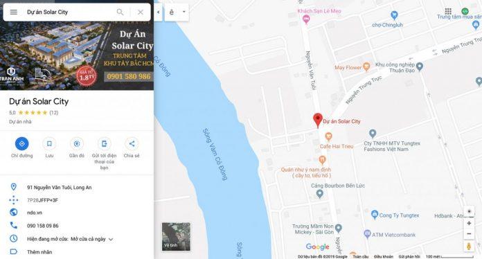 Dự án Solar City Bến Lức - Trần Anh Riverside 2 tại Bến Lức